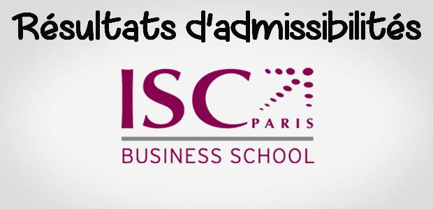 Résultats admissibilités ISC Paris 2016