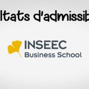 Résultats d'admissibilités INSEEC 2018