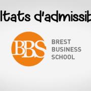 Résultats d'admissibilités Brest BS 2019