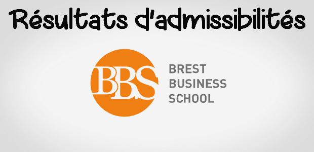 Résultats d'admissibilités Brest BS 2018