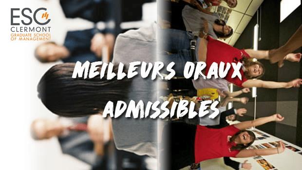 Vote ESC Clermont – Concours des meilleurs oraux admissibles 2018