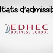 Résultats d'admissibilités EDHEC 2018