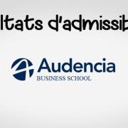 Résultats d'admissibilités Audencia 2018