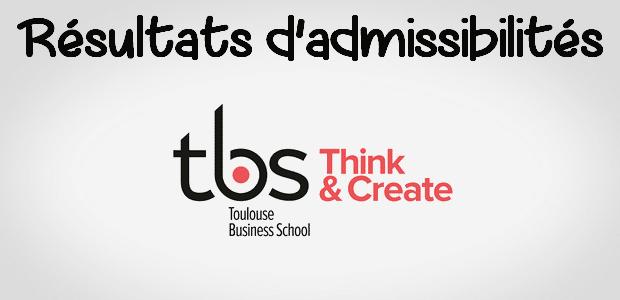 Résultats d'admissibilités TBS 2018