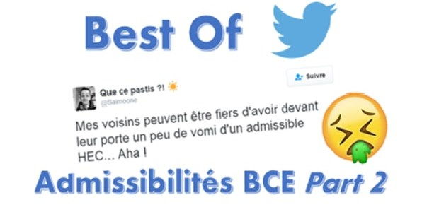 Best of Twitter, réaction des candidats BCE 2016 (2)