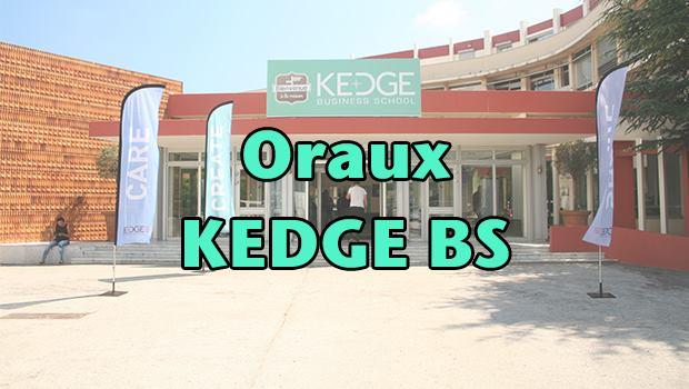 Oraux KEDGE BS 2016 – Mode d'emploi