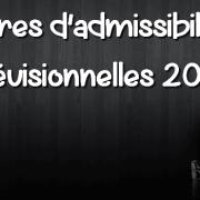 Barres d'admissibilités prévisionnelles 2016