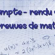 Compte-rendu provisoire des épreuves de mathématiques des concours HEC