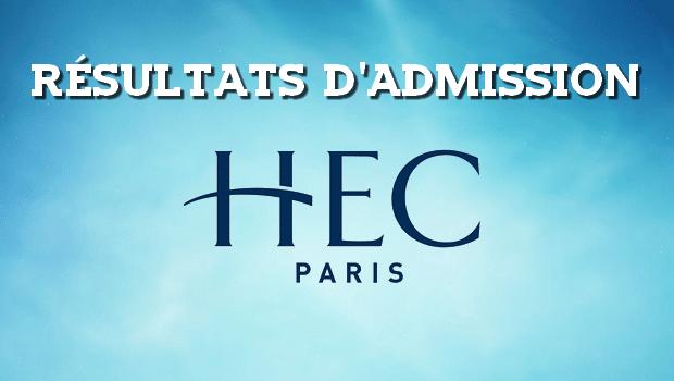 Résultats d'admissions HEC 2018