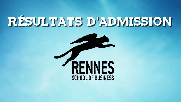 Résultats d'admissions Rennes SB 2017
