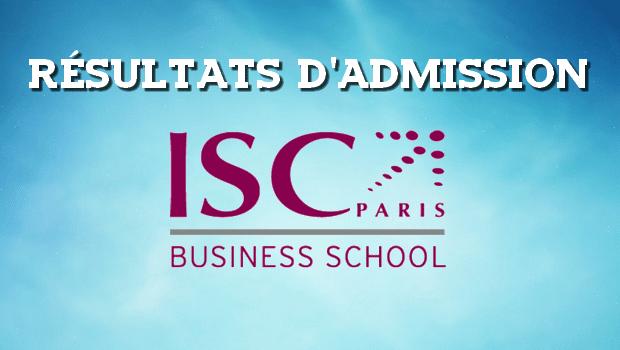 Résultats d'admissions ISC Paris 2017