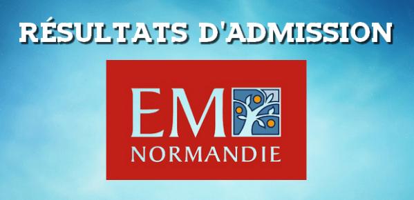 Résultats d'admissions EM Normandie 2018 - Major-Prépa