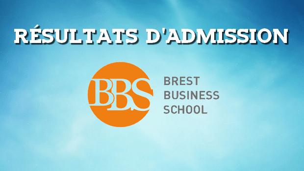Résultats d'admissions Brest BS 2017