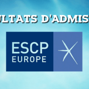 Résultats d'admissions ESCP 2016