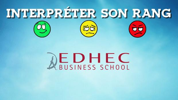 Interpréter son rang EDHEC 2017