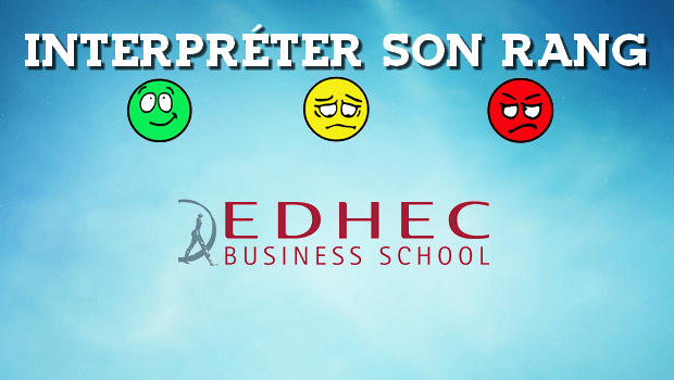 Interpréter son rang EDHEC 2016