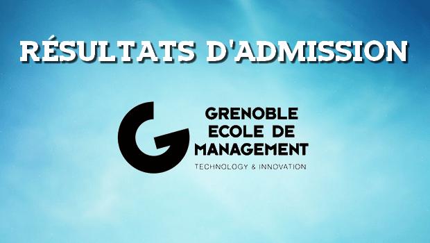 Résultats d'admissions Grenoble EM 2018