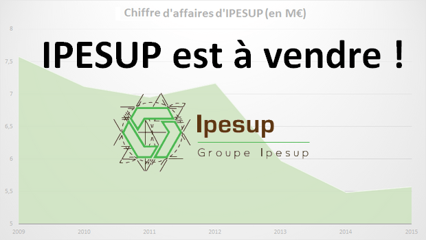 Le groupe IPESUP mis en vente