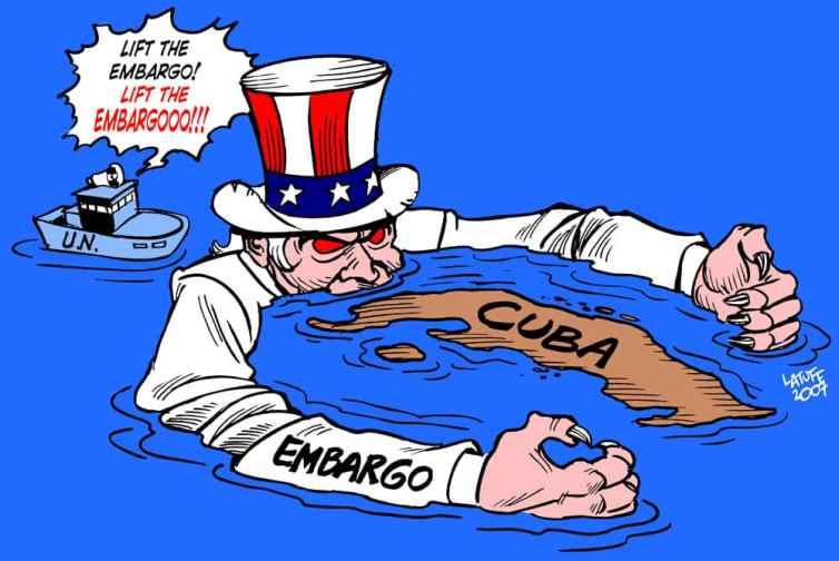 Combien de pays se sont prononcés en faveur de la levée de l'embargo américain vers Cuba lors de l'Assemblée Générale de l'ONU ?