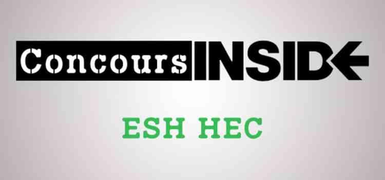 Préparer l'épreuve d'ESH HEC 2018