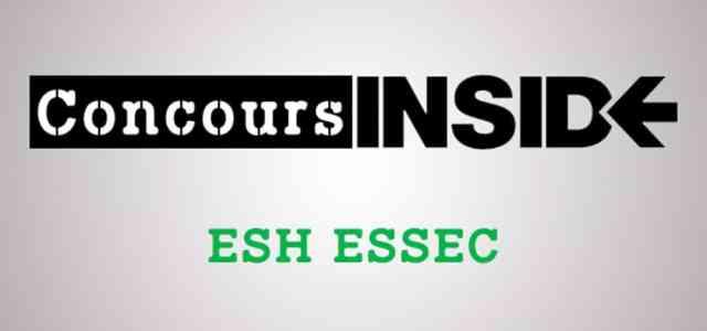 Préparer l'épreuve d'ESH ESSEC 2018
