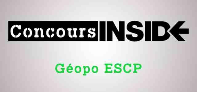 Préparer l'épreuve de géopo ESCP 2017
