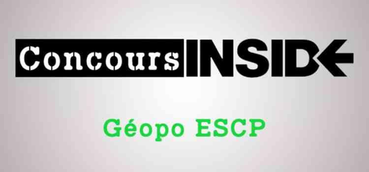 Préparer l'épreuve de géopo ESCP 2019
