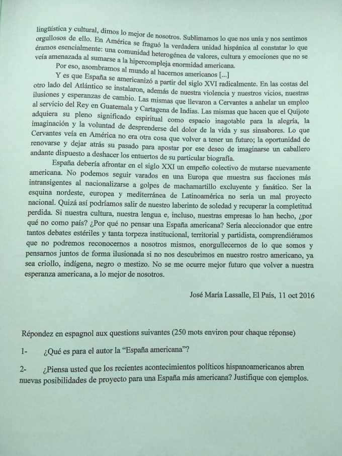 espagnol LV1 4