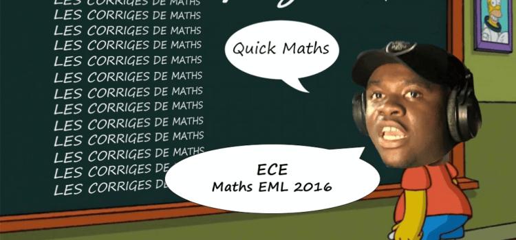 Maths EM LYON ECE 2016 – Analyse & correction