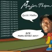 Corrigé Maths EDHEC ECE 2017