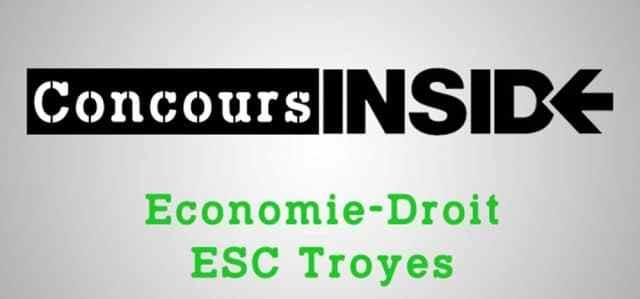 Eco-droit SCBS (ESC Troyes) 2018 – Sujet