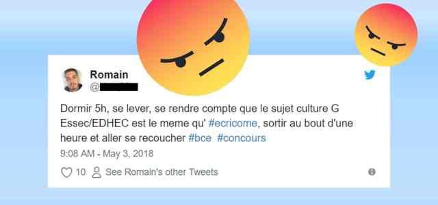 Top tweets du concours BCE 2018