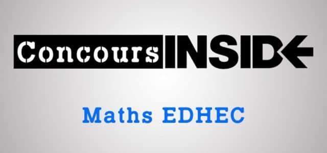 Maths EDHEC ECS 2018 – Sujet tombé à Clermont