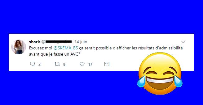 Top tweets des résultats d'admissibilité 2018