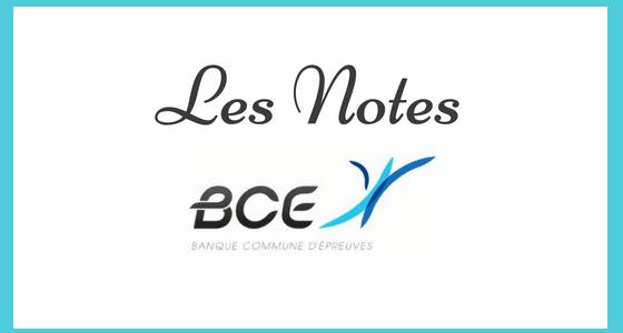 Les notes BCE 2020 sont en ligne !