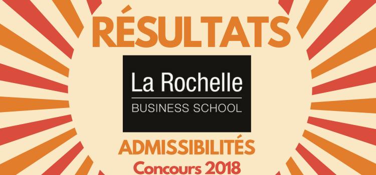 Résultats d'admissibilités La Rochelle BS 2018
