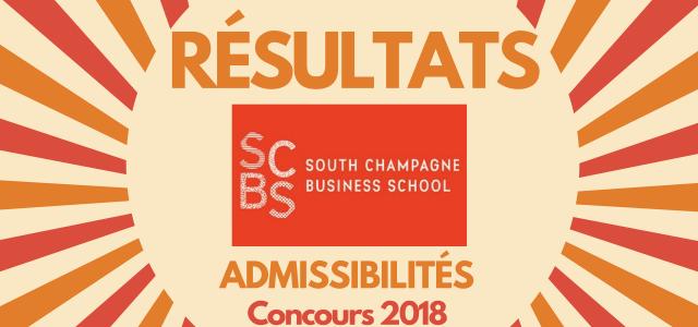 Résultats d'admissibilités SCBS (ex-ESC Troyes) 2018