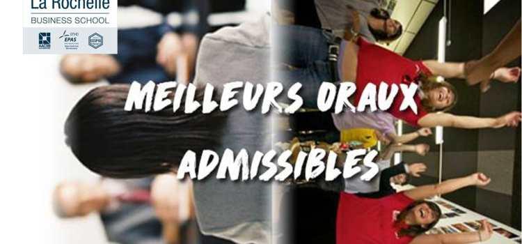 Vote La Rochelle Business School – Concours des meilleurs oraux admissibles 2018