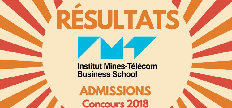 Résultats d'admissions IMT – Télécom EM 2018