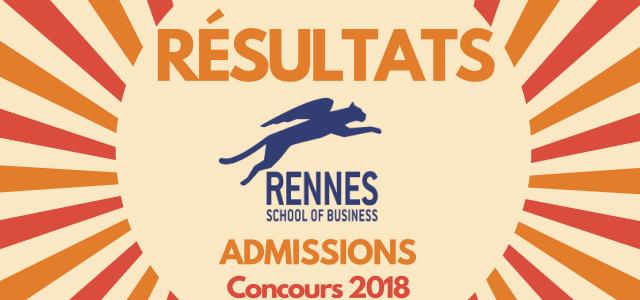 Résultats d'admissions Rennes SB 2018