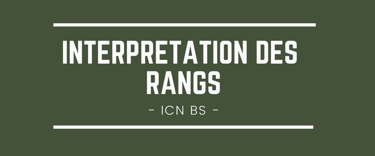 Interpréter son rang ICN BS 2018