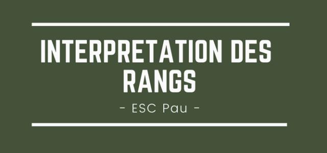 Interpréter son rang ESC Pau 2018