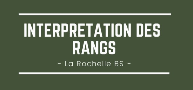 Interpréter son rang La Rochelle BS 2018