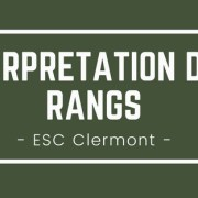 Interpréter son rang ESC Clermont BS 2018