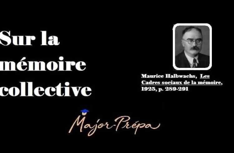 Halbwachs, La mémoire collective