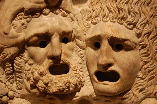 Parmi ces quatre auteurs, lequel ne fait pas partie des trois grands auteurs de tragédie dans l'Antiquité grecque ?