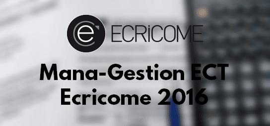 Management Gestion Ecricome 2016 – Sujet