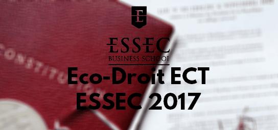 Eco Droit ESSEC 2017 – Sujet