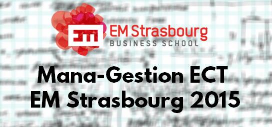 Sujet Management Gestion ESC 2015