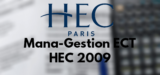 Rapport Management Gestion HEC 2009